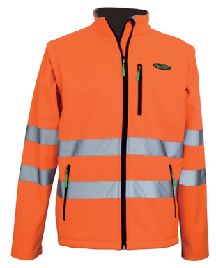Veste multi-usage orange manches amovibles