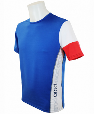 T-shirt col rond manches courtes homme - tricolore bbr